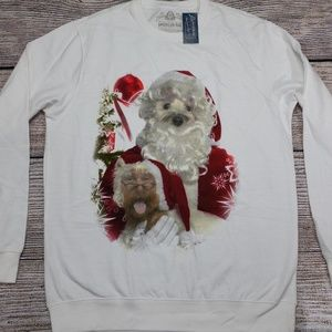 American Rag Christmas Dog Santa Sweatshirt XL New